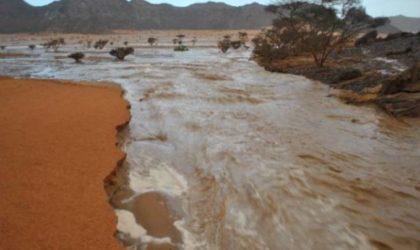 Inondations à Tamanrasset : une personne emportée par les eaux et une autre noyée