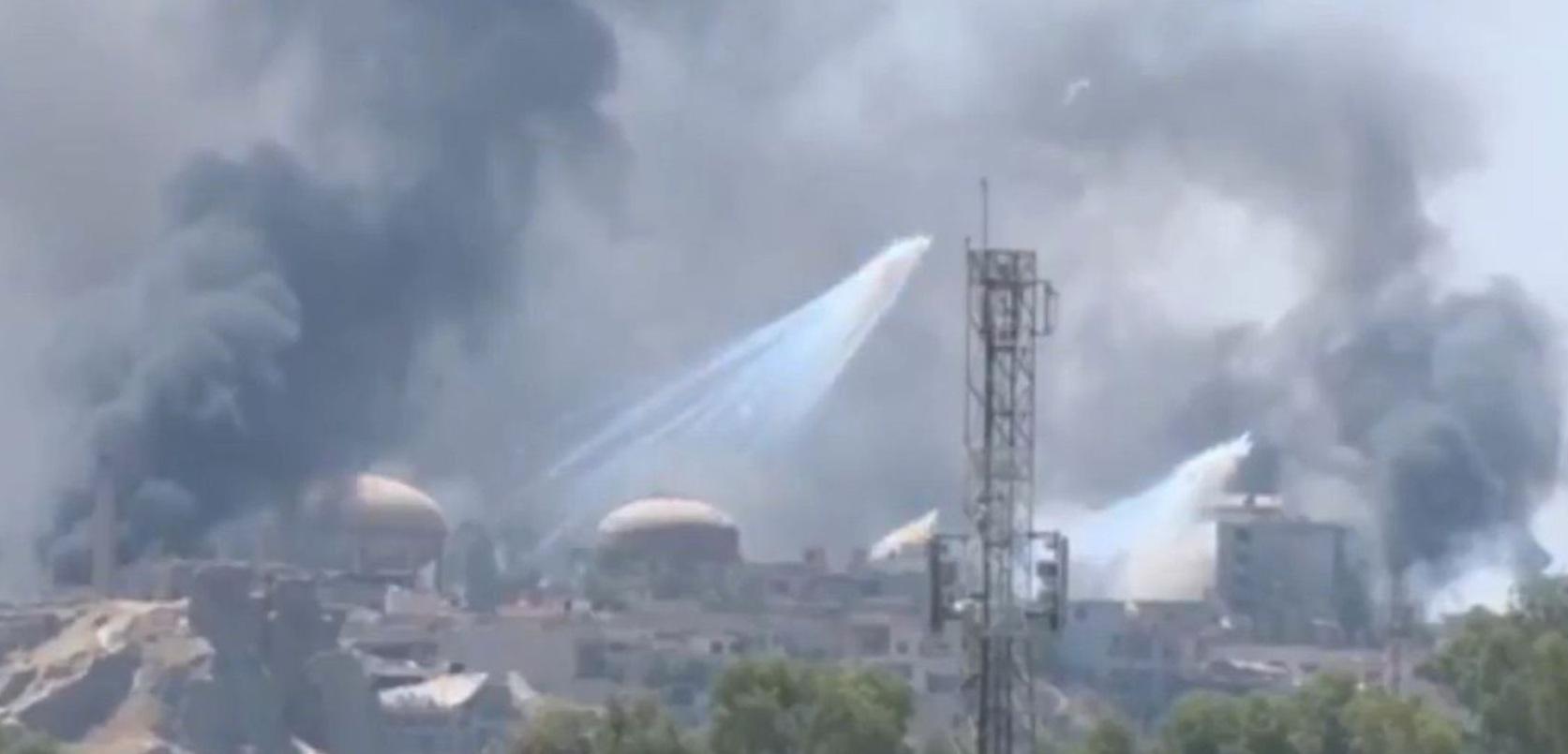 Syrie bombe au phosphore