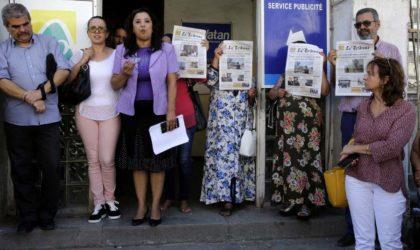 Sit-in de solidarité avec les journalistes et travailleurs de La Tribune
