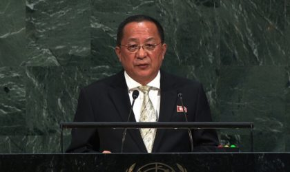 Discours du ministre nord-coréen des Affaires étrangères devant l'ONU