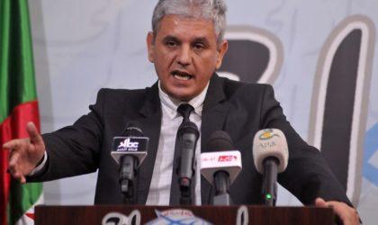 Mohcine Belabbas plaide en faveur d'une «mobilisation solidaire» de tous les patriotes