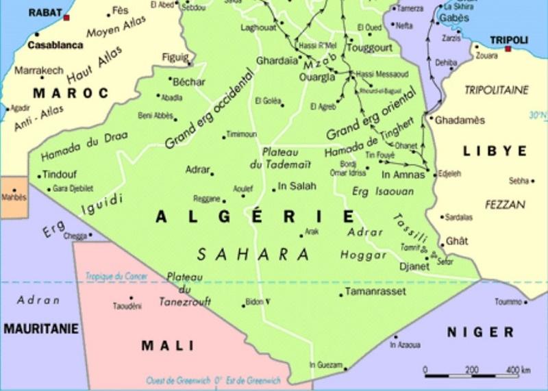 Carte Algerie Mauritanie.Une Commission Algero Mauritanienne Pour La Creation D Un