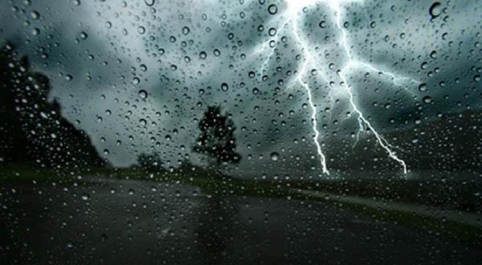 pluie orageuse