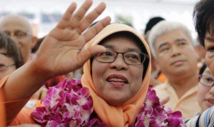 Singapour : Halimah Yacob première présidente du pays
