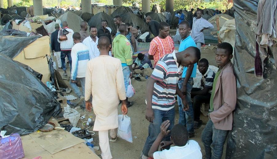 Nigériens réfugiés