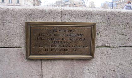 La plaque qui commémore le 17 Octobre «est devenue un urinoir pour chiens»