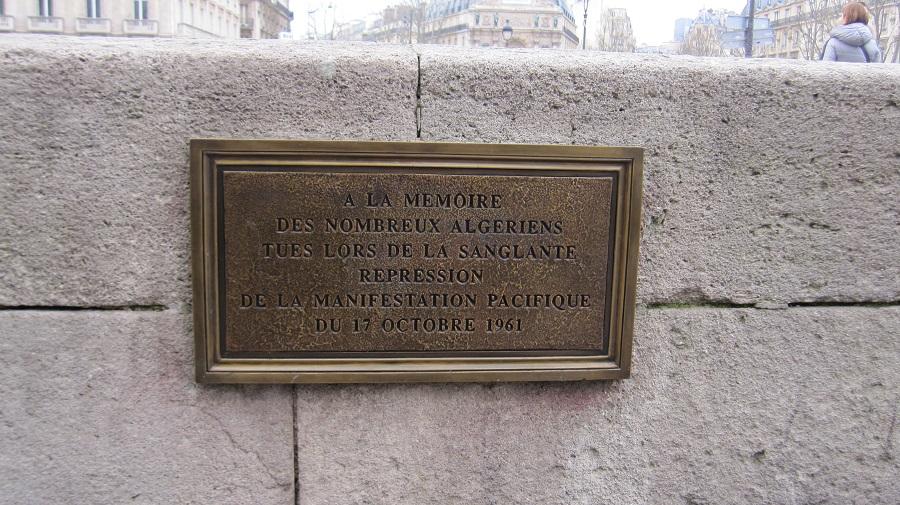 Plaque 17 Octobre Paris