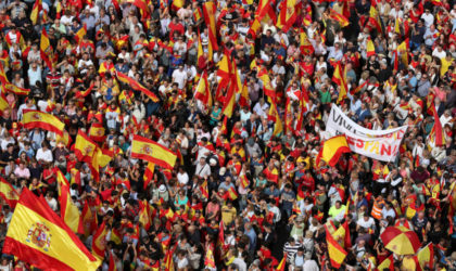 Catalogne : manifestation pour l'unité de l'Espagne