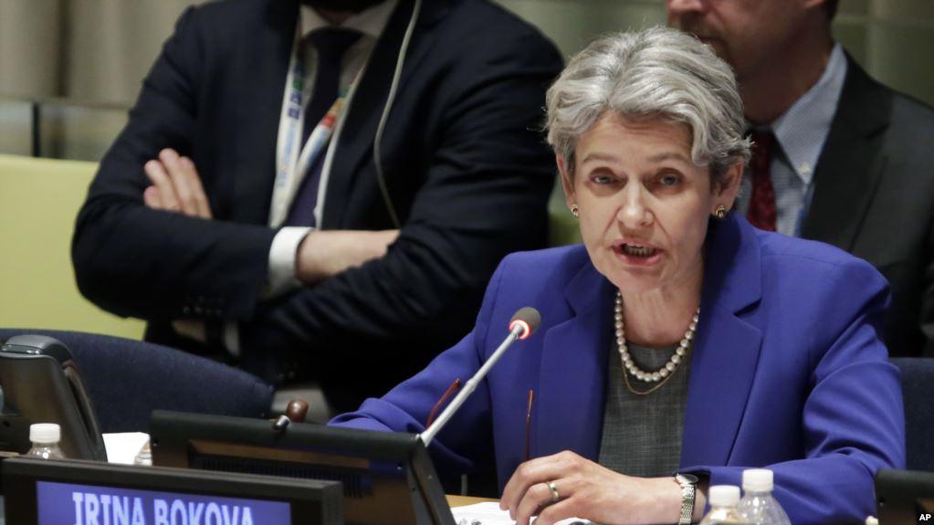 Irina Bokova, Directrice de l'Unesco. D. R.