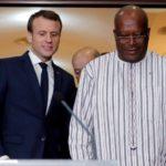 Macron le président burkinabé