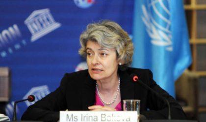 Irina Bokova : l'Unesco et l'Algérie entretiennent une «excellente» relation
