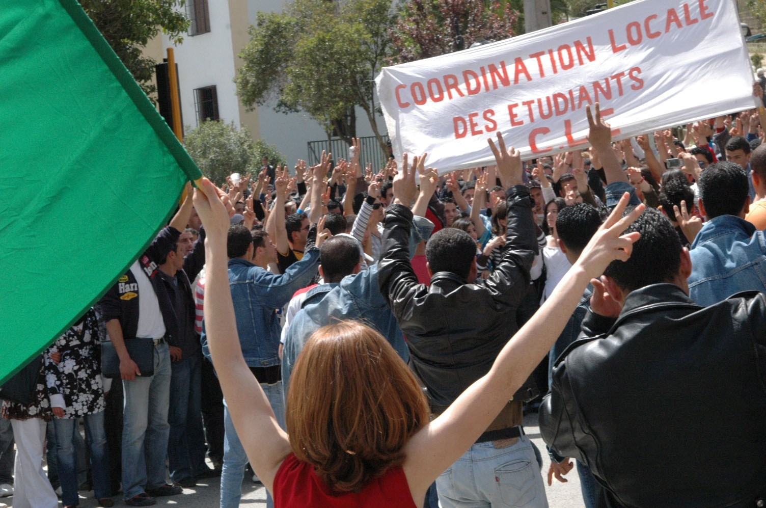La coordination des étudiants, lors d'une précédente manifestations. New Press