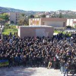 Rassemblement d'étudiants à l'université de Béjaïa. D. R.