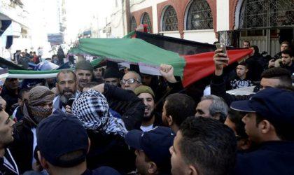 Rassemblement de solidarité avec le peuple palestinien à la Coupole
