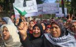 Les Palestiniens protestent à Bethléem contre la décision de Trump