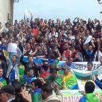Lors d'une précédente manifestations des étudiants à Bouira. D. R.