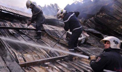 Incendie dans le marché populaire d'Aïn Naâdja : un blessé et vingt-deux locaux détruits