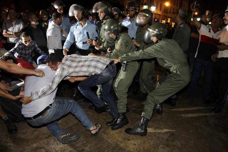 Un répression féroce s'abat sur les manifestants marocains. D. R.