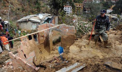 Mostaganem: glissement de terrain sur la RN11 et érosion du sol sur le CW7