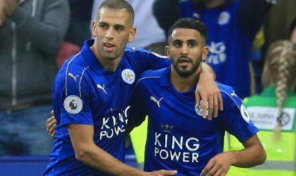Premier League anglaise/Leicester City: Slimani et Mahrez buteurs face à Huddersfield
