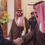 Roi d'arabie Angleterre visite