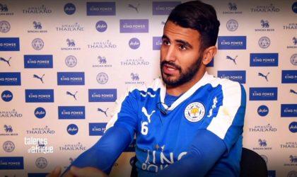 Leicester City: Mahrez sur le banc contre Manchester City