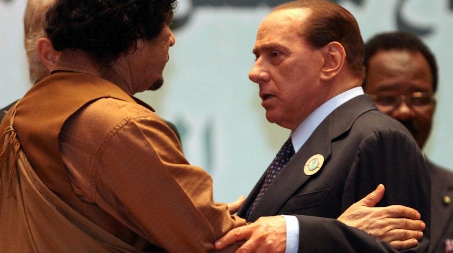 Berlusconi Kadhafi