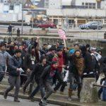 Calais France Heurts