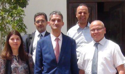 Azzedine Adjeb installé au poste de chef de projet de l'Institut de recherche du gaz