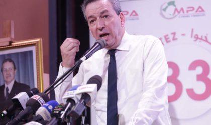 Le MPA présent pour «participer à l'édification de l'Algérie avec tous les partenaires politiques»