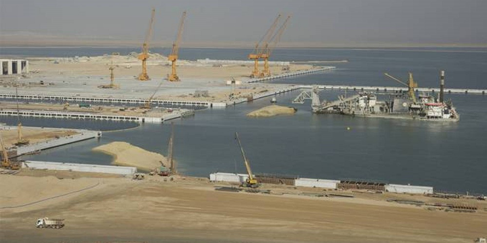 Le port centre d'El-Hamdania zones industrielles ligne ferroviaire