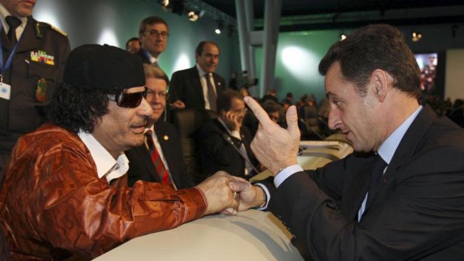 Kadhafi Sarkozy