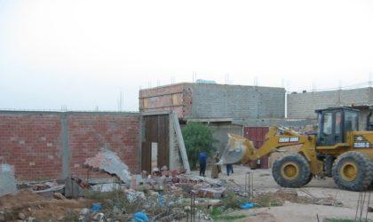Constructions sans permis: plus de 200 interventions enregistrées en mars à Alger