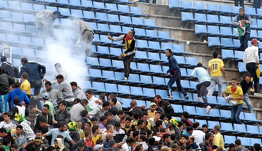 Coupe d'Algérie demi-finale JSK-MCA incidents dans les gradins