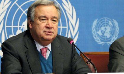 Guterres exprime ses condoléances aux familles des victimes et au gouvernement