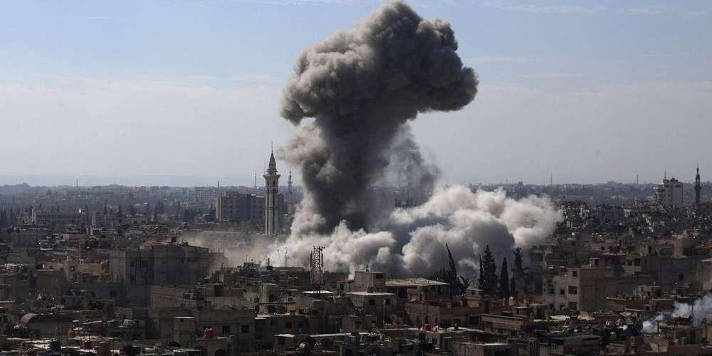 Syrie Douma raids aériens