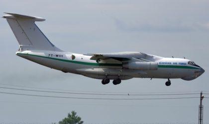Un avion de transport militaire de type Iliouchine de l'ANP s'écrase
