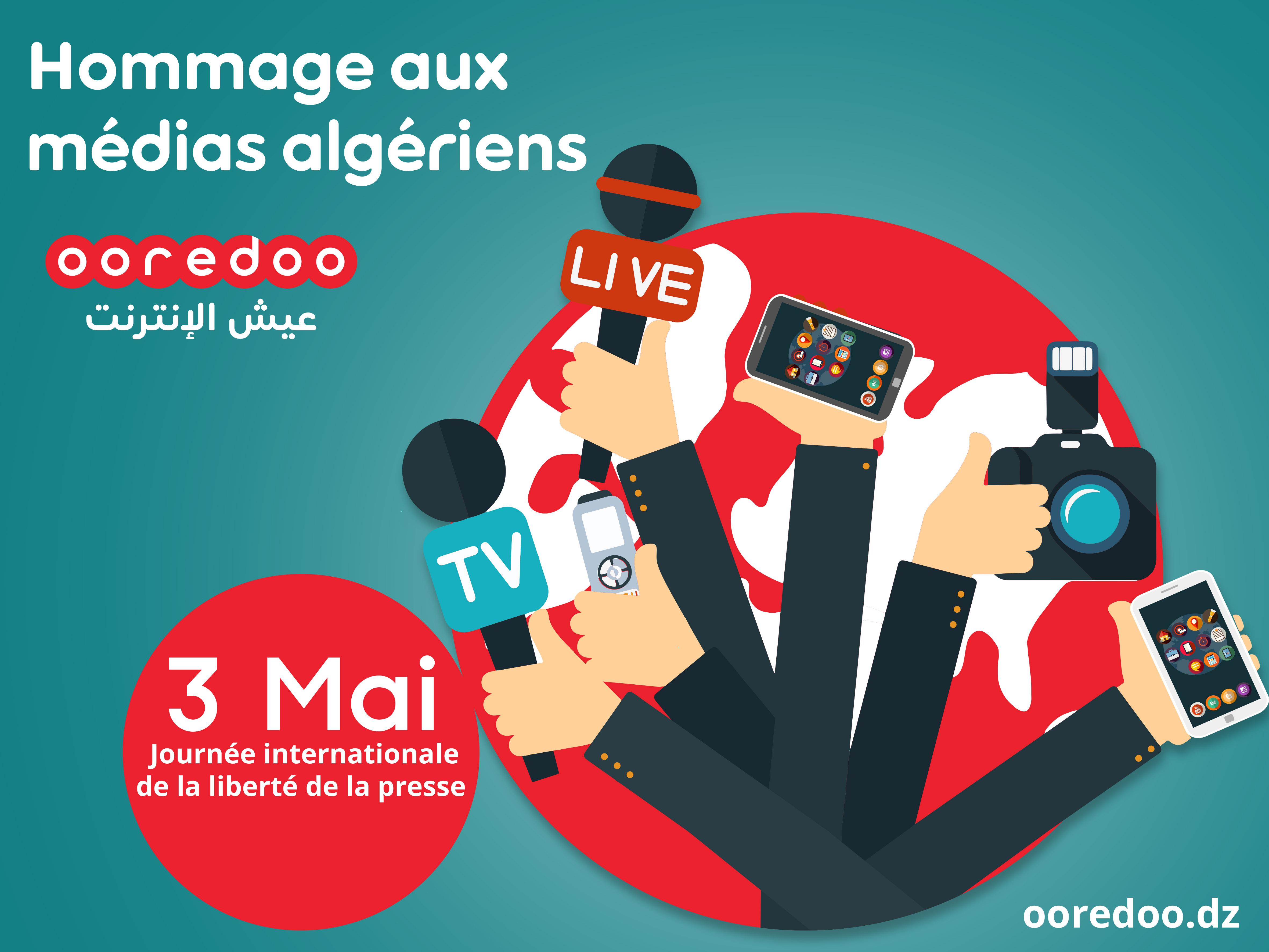 Ooredoo rend hommage aux médias algériens. D. R.