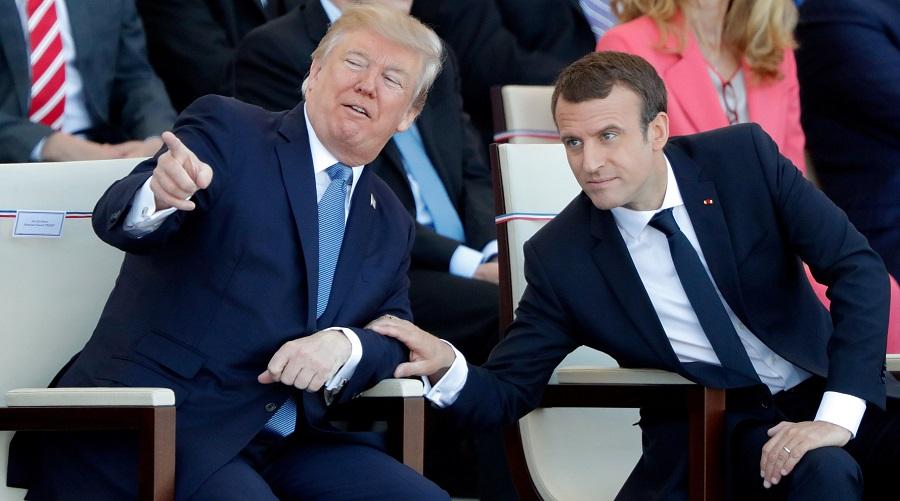 Trump Macron monde