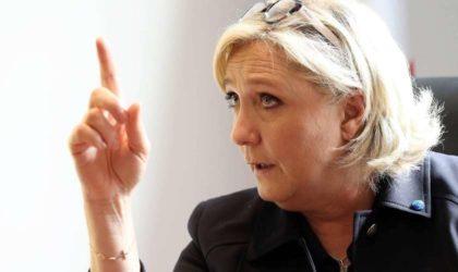 Marine Le Pen s'attaque aux supporteurs algériens