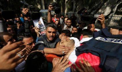 RSF condamne «les tirs délibérés» de l'armée israélienne contre des journalistes palestiniens