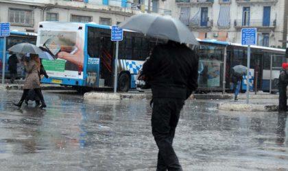 Pluies orageuses attendues mardi et mercredi sur des wilayas de l'est du pays