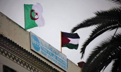Le FFS hisse le drapeau palestinien au siège du parti en signe de solidarité