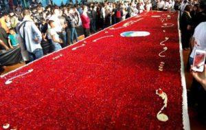 record mondial tarte fraise Algérie