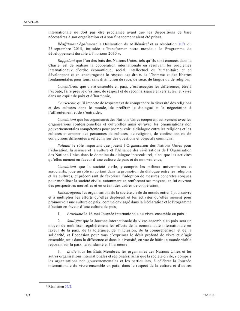 resolution onu Algérie
