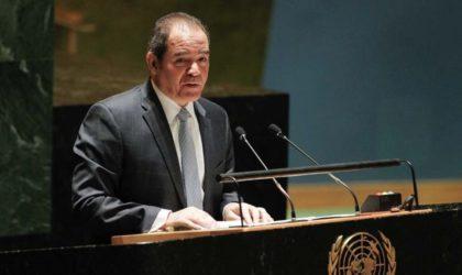 Boukadoum : «La communauté internationale est appelée à protéger le peuple palestinien»