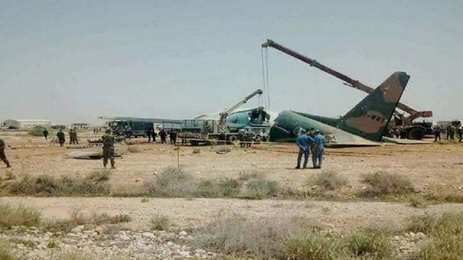 Hercules C-130 atterrissage Biskra