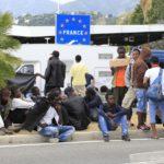 migrants Menton