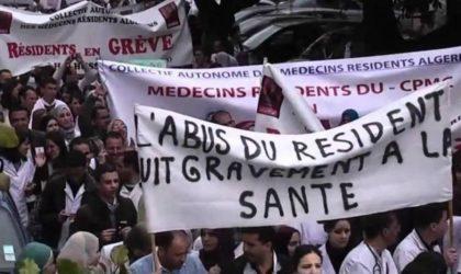 Tizi Ouzou : marche des médecins résidents