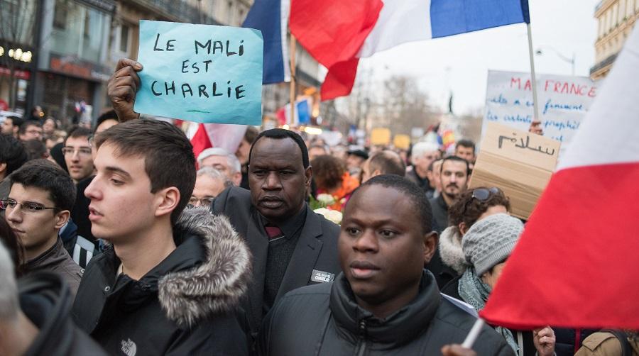 dons, Charlie Hebdo, caricature, Africains de l'EN française
